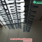 Lắp đặt giàn phơi thông minh nhà chị Hương ở Cổ Dương, Đông Anh