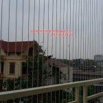 Lắp đặt lưới an toàn ban công nhà chị Ngân P102, Tòa VP6, Linh Đàm