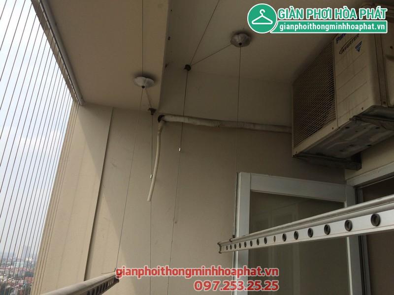 Sửa thay dây giàn phơi nhà 1506 - No 10A - KĐT Sài Đồng - Long Biên 01