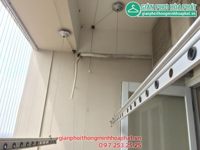Sửa thay dây giàn phơi nhà 1506 - No 10A - KĐT Sài Đồng - Long Biên 05