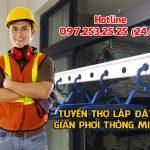 Cần tìm đội thợ lắp giàn phơi thông minh tại Quảng Ninh