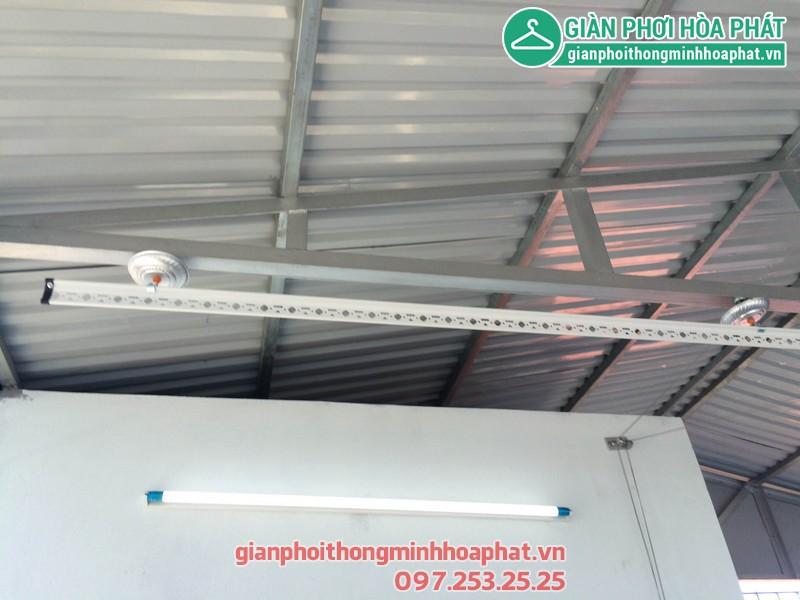 Giàn phơi thông minh cho mái tôn nhà chị Lan số 14 ngõ 252 Ngọc Thụy, Long Biên 01