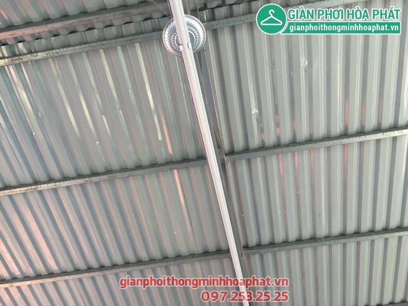 Giàn phơi thông minh cho mái tôn nhà chị Lan số 14 ngõ 252 Ngọc Thụy, Long Biên 02