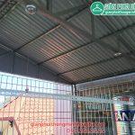 Lắp giàn phơi cho mái tôn nhà chị Lan số 14 ngõ 252 Ngọc Thụy, Long Biên