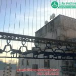 Lắp giàn phơi thông minh, lưới an toàn ban công nhà chị Hà, P1714, Tòa OCT1, KĐT Bắc Linh Đàm