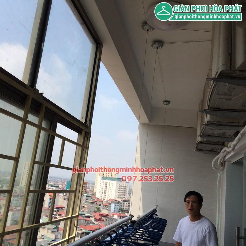Giàn phơi thông minh nhà bác Trinh P1315 CT3A KĐT Văn Quán, Hà Đông 02
