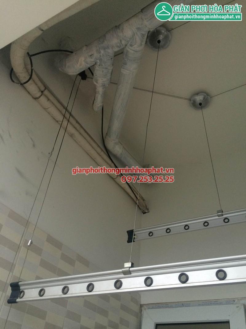Sửa giàn phơi nhà anh Chung P3028 chung cư VP5 KĐT Linh Đàm 05