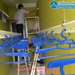Lắp giàn phơi nhà anh Tuyến chung cư 143 ngõ 85 Hạ Đình, Thanh Xuân