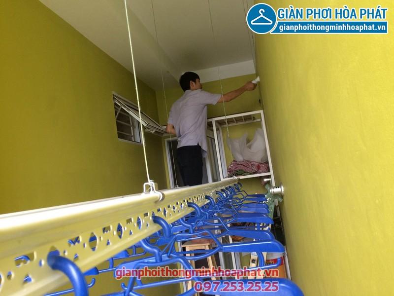 Giàn phơi thông minh nhà anh Tuyến chung cư 143 ngõ 85 Hạ Đình, Thanh Xuân 04