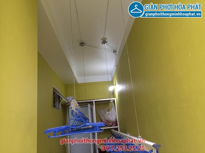 Giàn phơi thông minh nhà anh Tuyến chung cư 143 ngõ 85 Hạ Đình, Thanh Xuân 08