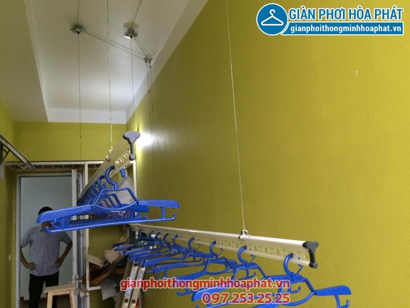 Giàn phơi thông minh nhà anh Tuyến chung cư 143 ngõ 85 Hạ Đình, Thanh Xuân 09