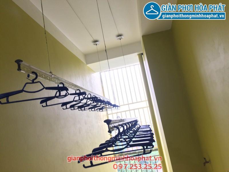 Giàn phơi thông minh nhà anh Tuyến chung cư 143 ngõ 85 Hạ Đình, Thanh Xuân 10