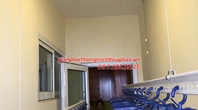 Giàn phơi thông minh và bạt che nắng P802A1 toà H1 Hoà Bình Green, 505 Minh Khai
