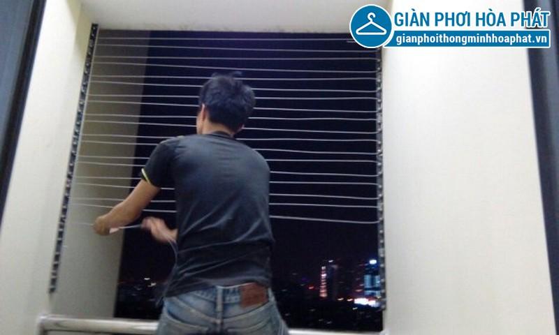 Lắp lưới an toàn, lưới bảo vệ nhà chị Ngân tầng 15 tòa G3B Yên Hòa 01