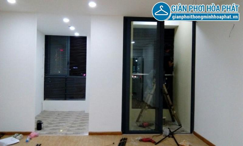 Lắp lưới an toàn, lưới bảo vệ nhà chị Ngân tầng 15 tòa G3B Yên Hòa 02