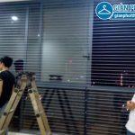 Lắp lưới an toàn, lưới bảo vệ nhà chị Ngân tầng 15 tòa G3B Yên Hòa
