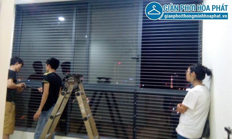 Lắp lưới an toàn, lưới bảo vệ nhà chị Ngân tầng 15 tòa G3B Yên Hòa 03