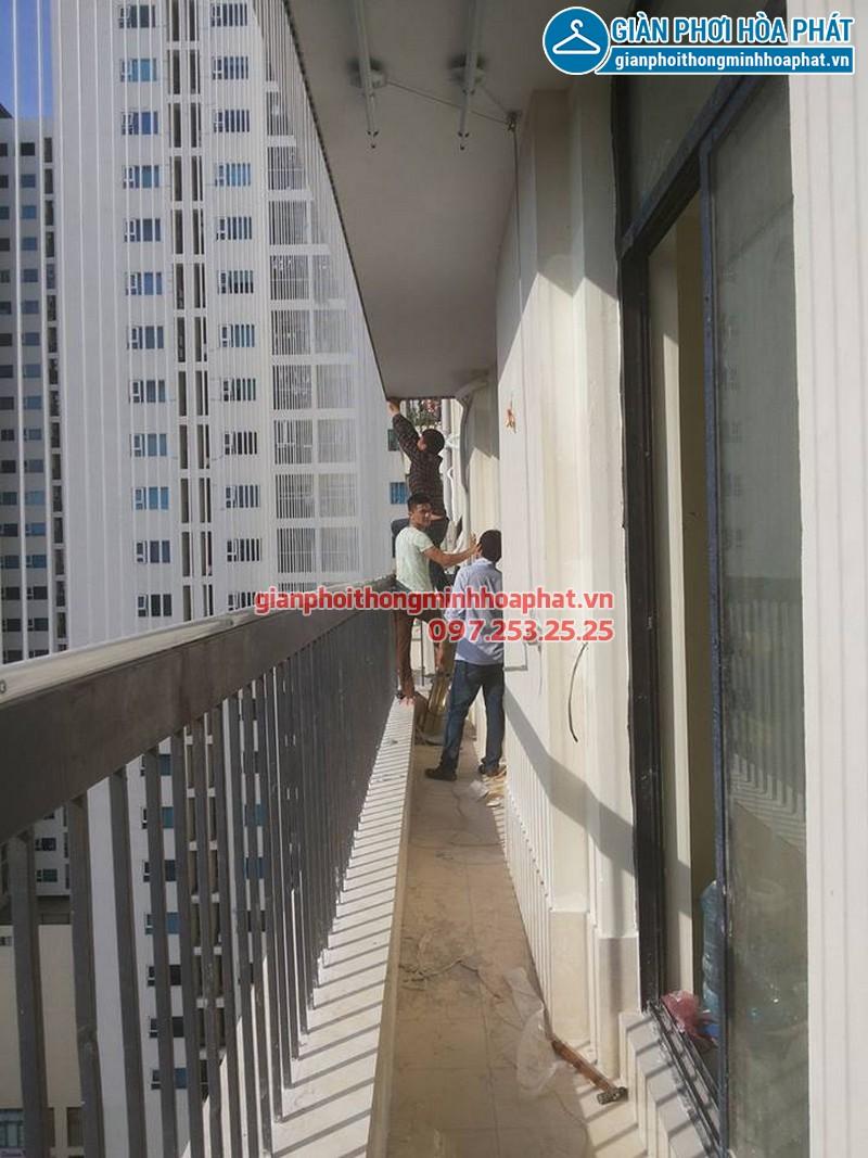 Lắp lưới bảo vệ nhà anh Điệp chung cư Westa, Văn Quán, Hà Đông 01