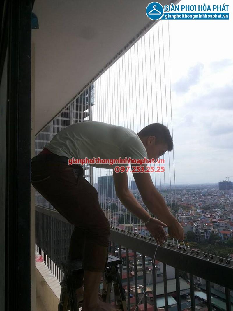 Lắp lưới bảo vệ nhà anh Điệp chung cư Westa, Văn Quán, Hà Đông 03