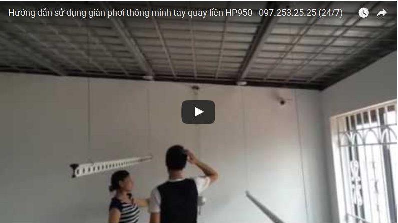 Hướng dẫn sử dụng giàn phơi thông minh tay quay liền HP950