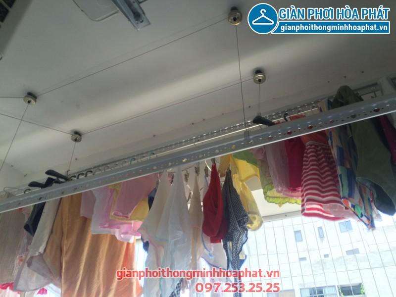 Sửa thay dây cáp giàn phơi thông minh nhà chị Kim Anh P2132 VP5 Linh Đàm 02