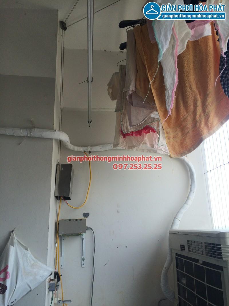 Sửa thay dây cáp giàn phơi thông minh nhà chị Kim Anh P2132 VP5 Linh Đàm 03