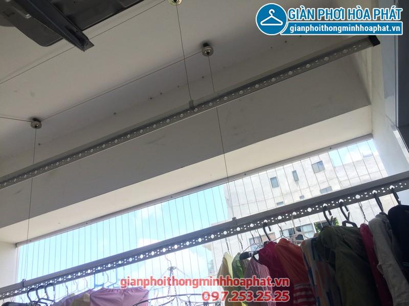 Sửa thay dây cáp giàn phơi thông minh nhà chị Kim Anh P2132 VP5 Linh Đàm 04