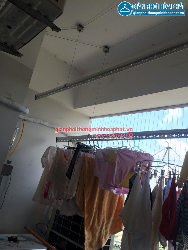 Sửa thay dây cáp giàn phơi thông minh nhà chị Kim Anh P2132 VP5 Linh Đàm 06
