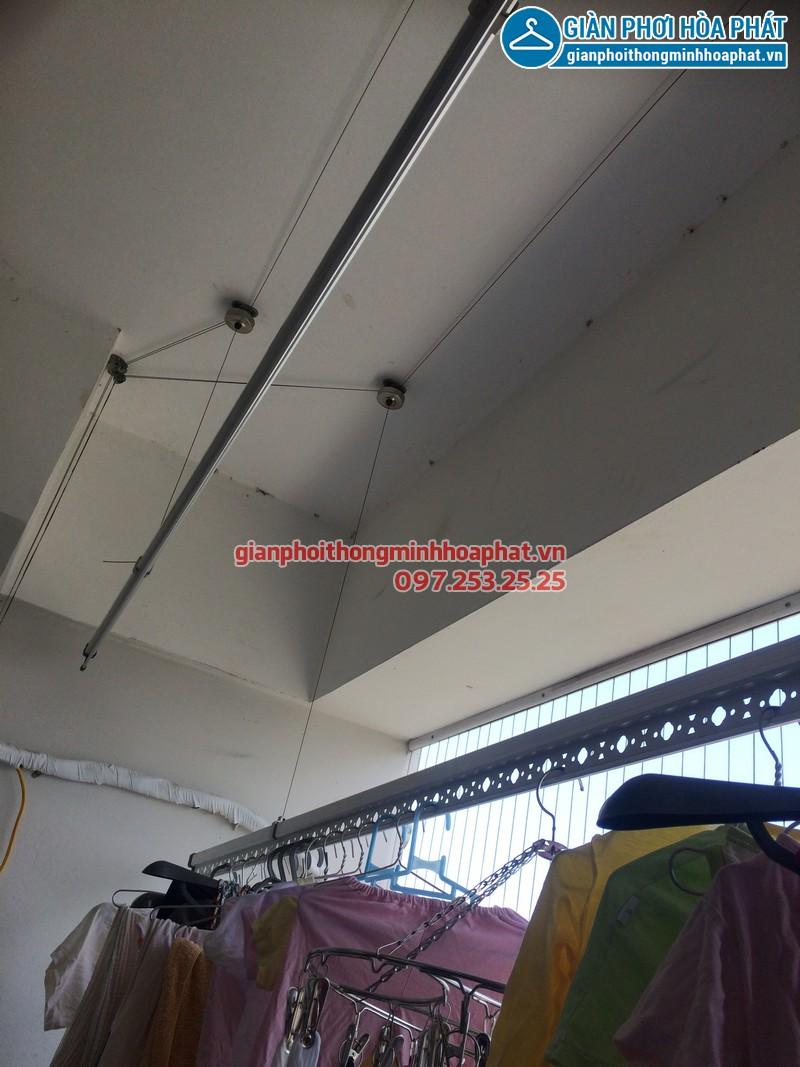 Sửa thay dây cáp giàn phơi thông minh nhà chị Kim Anh P2132 VP5 Linh Đàm 09