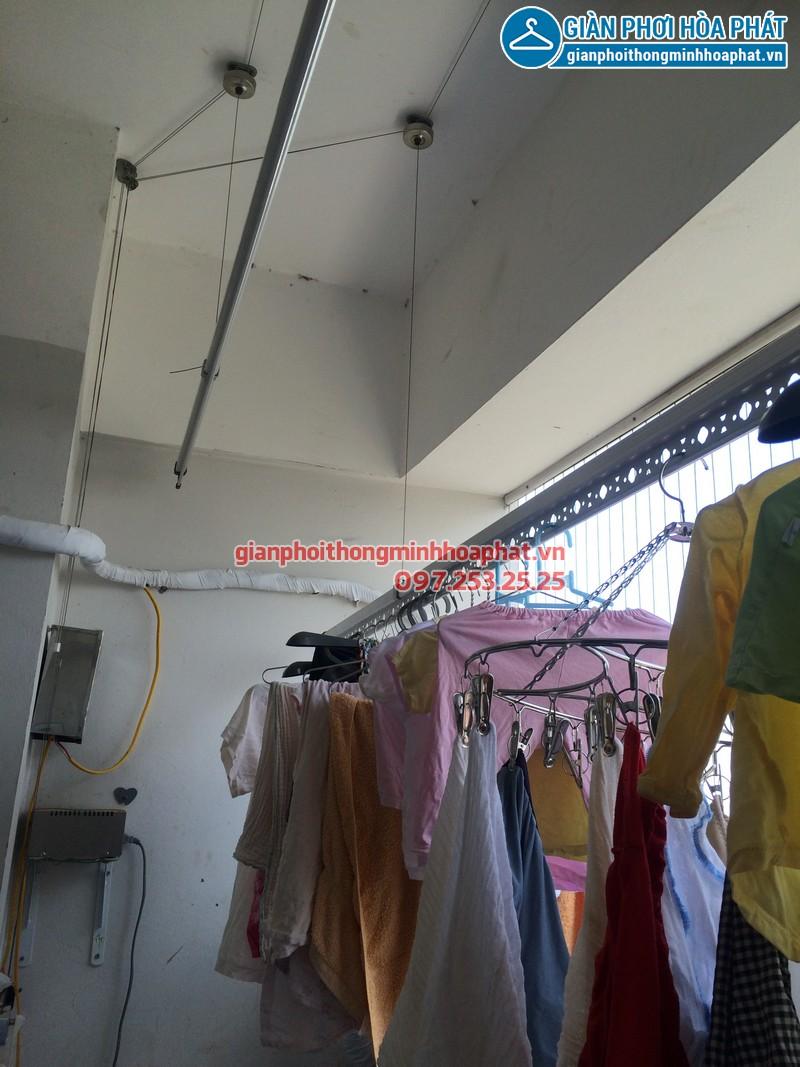 Sửa thay dây cáp giàn phơi thông minh nhà chị Kim Anh P2132 VP5 Linh Đàm 10