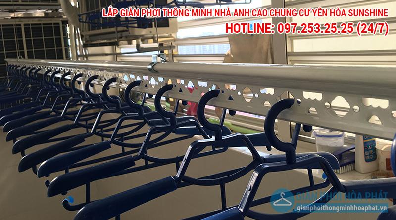 Lắp giàn phơi Hòa Phát nhà anh Cao p1401 chung cư Yên Hòa Sunshine