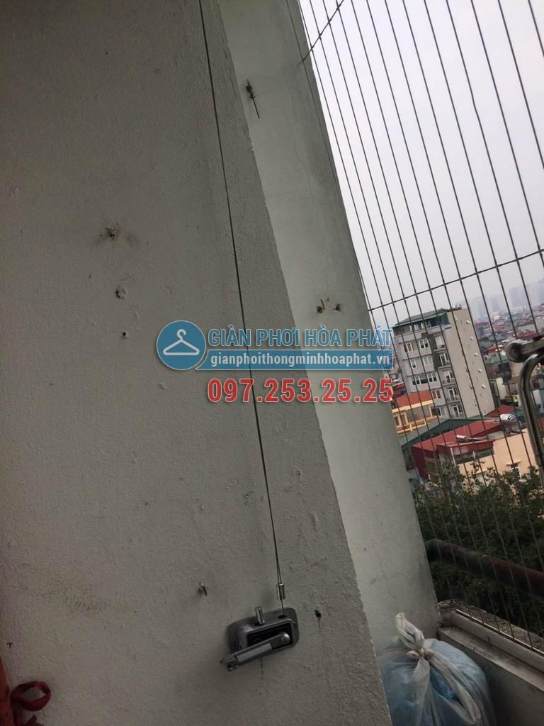 Chị Chi lắp giàn phơi thông minh giá rẻ chung cư 8C số 30 Tạ Quang Bửu 04