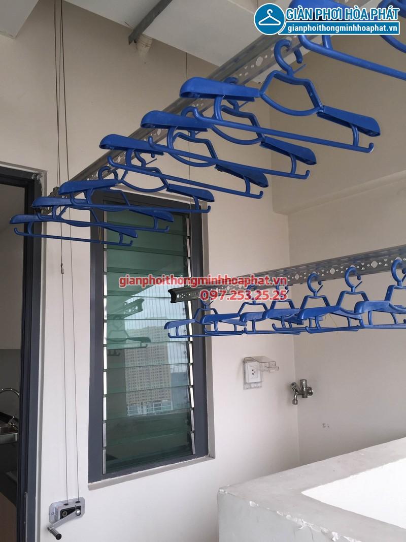 Lắp đặt giàn phơi thông minh nhà chị Tuyết, P1902, Park 2, Park Hill Time City