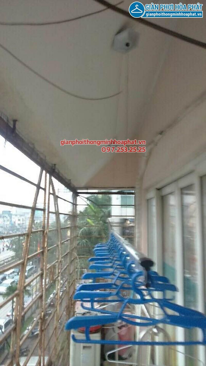 Lắp giàn phơi Hòa Phát nhà anh Khánh só 193 Giải Phóng, Hà Nội 01