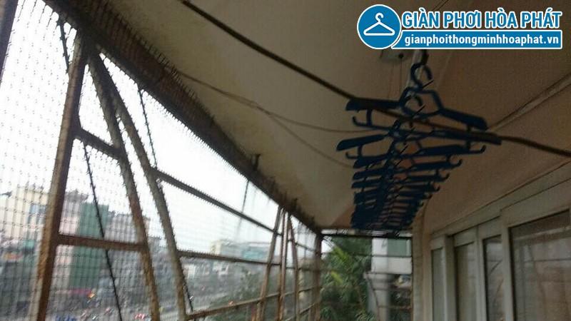 Lắp giàn phơi Hòa Phát nhà anh Khánh só 193 Giải Phóng, Hà Nội 04