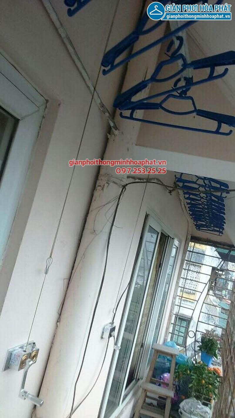 Lắp giàn phơi Hòa Phát nhà anh Khánh só 193 Giải Phóng, Hà Nội 06