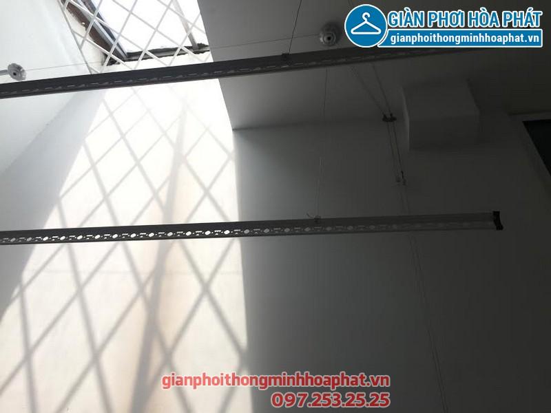 Lắp giàn phơi thông minh nhà anh Tuấn, ngõ Giáp Bát, quận Hoàng Mai, Hà Nội