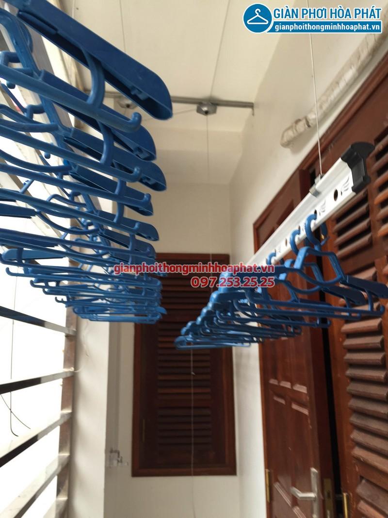Lắp giàn phơi thông minh nhà chị Hương số 20 ngõ 171 Nguyễn Xiển 01