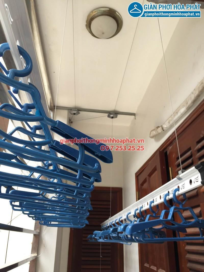 Lắp giàn phơi thông minh nhà chị Hương số 20 ngõ 171 Nguyễn Xiển 02