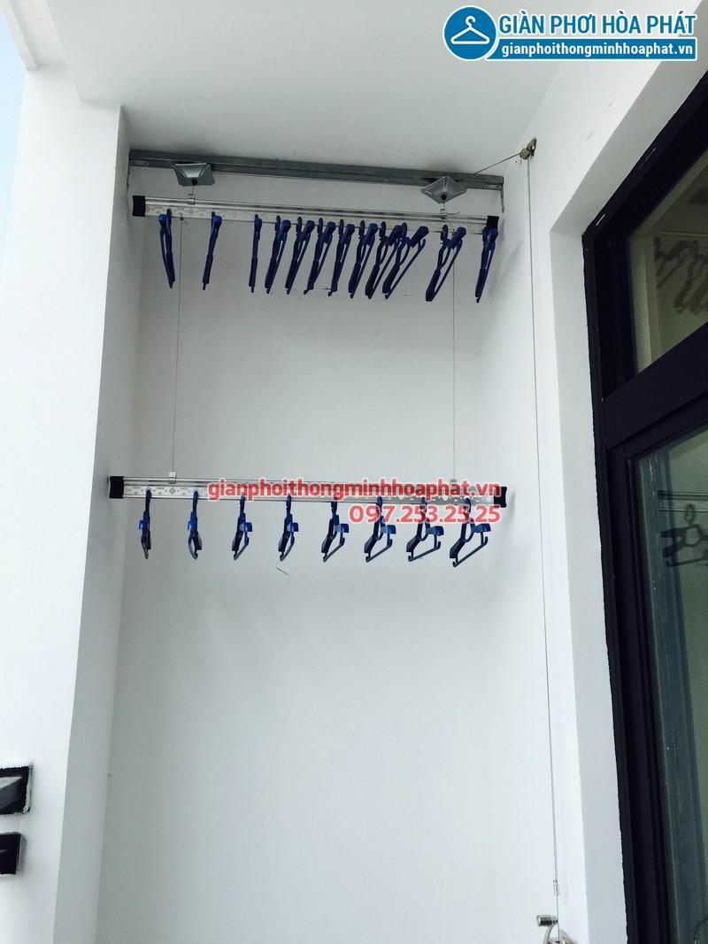Lắp giàn phơi thông minh nhà chị Huyền Anh phòng 3419 tòa R4B, Royal City 01