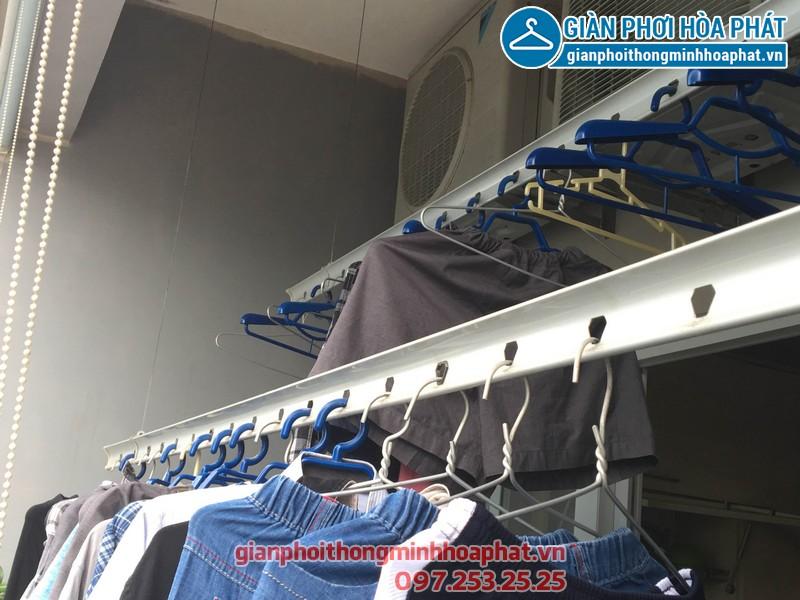 Lắp giàn phơi thông minh nhà chị Tuyết, P1321, Park 1, Park Hill Time City