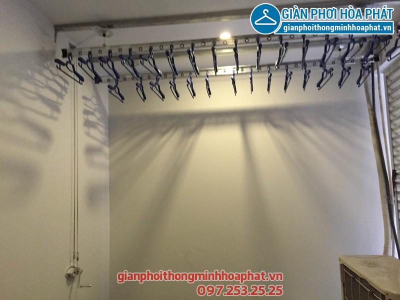 Lắp giàn phơi thông minh phòng 2009 C2 tòa nhà Hòa Phát 02
