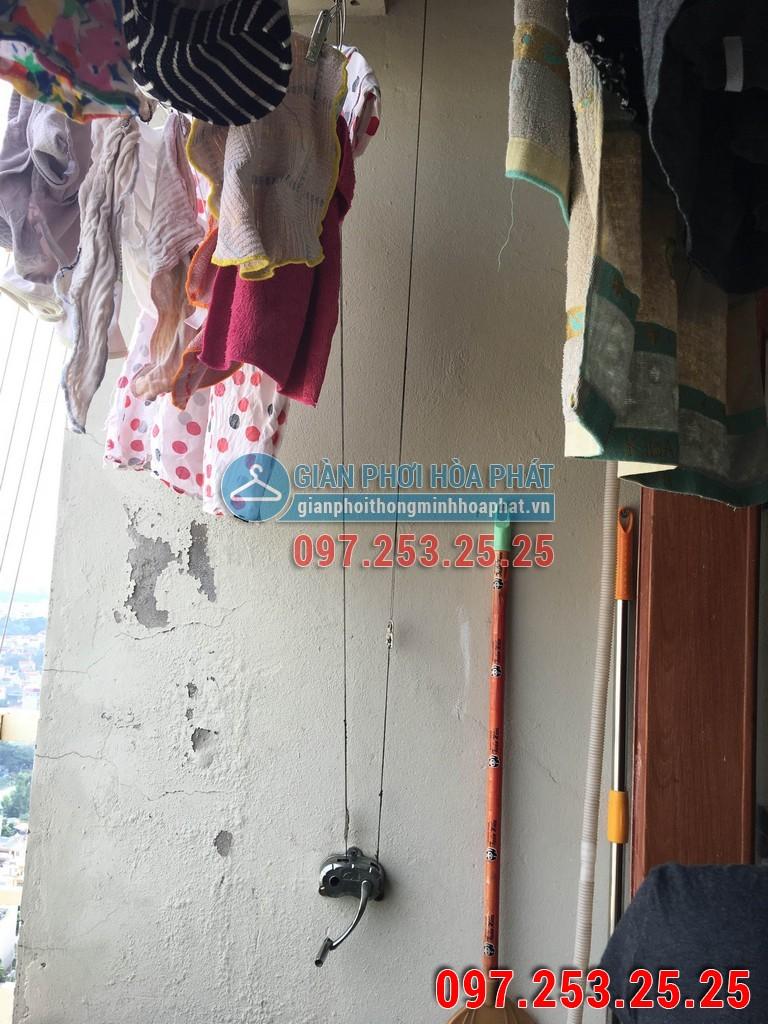 Sửa thay dây cáp giàn phơi nhà anh Duy p3128 CT8C chung cư Đại Thanh 02