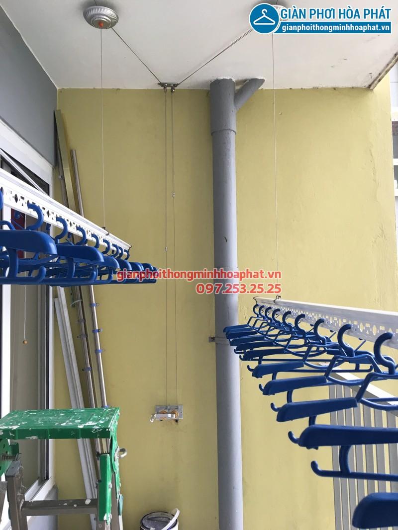 Lắp đặt hoàn thiện giàn phơi thông minh, P.602.TA1, chung cư rừng cọ Ecopark