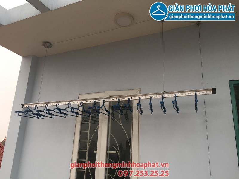 Hoàn thiện lắp đặt giàn phơi thông minh cho nhà anh Dũng tại Phù Đổng, Gia Lâm, Hà Nội