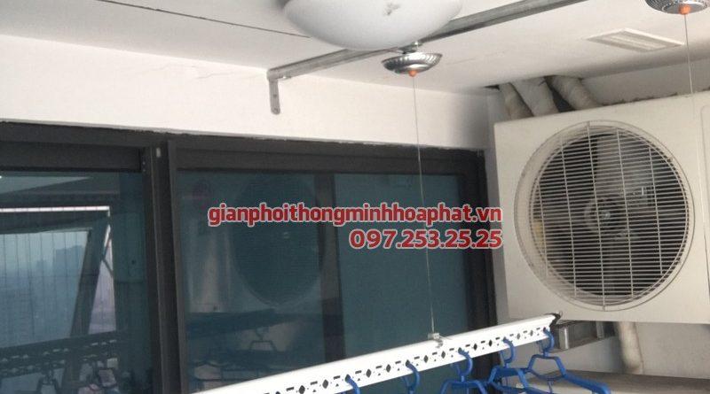 Lắp giàn phơi thông minh cho nhà anh Thái, P1909, chung cư Golden Land, 275 Nguyễn Trãi