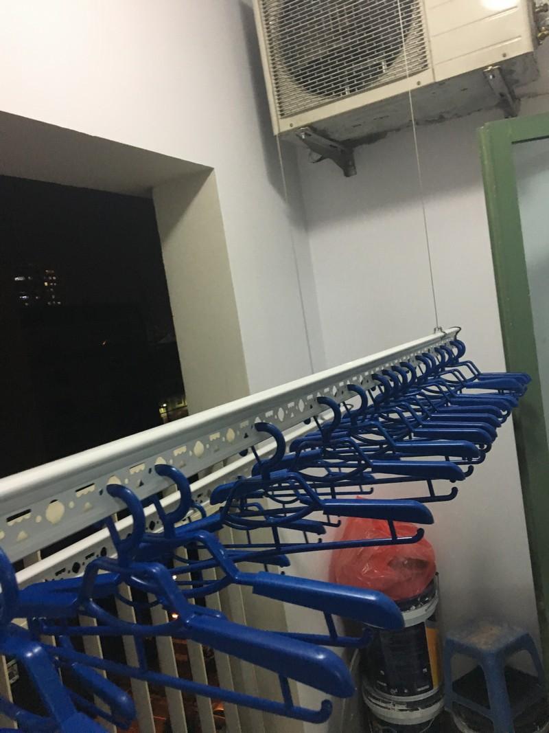 Lắp giàn phơi thông minh nhà anh Lũy, P908, CT2, ngõ Hòa Bình 6, Minh Khai, Đống Đa