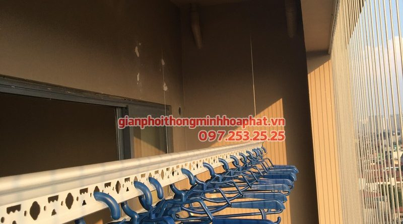 Lắp giàn phơi thông minh nhà anh Minh, P908, tòa HH1, chung cư 102 Trường Chinh