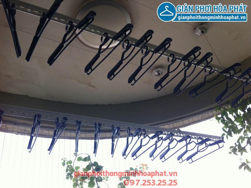 Lắp giàn phơi thông minh nhà anh Tuấn, P901, nhà 15t2, 18 Tam Trinh