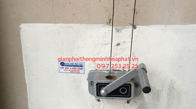 Sửa giàn phơi thông minh cho nhà anh P518 toà K4 khu đô thị Việt Hưng